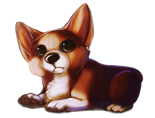 konnestra:  I drew a corgi but I wasn't too satisfied cause it looks like a vibrant mess.  eeee den e søt jo ;v;
