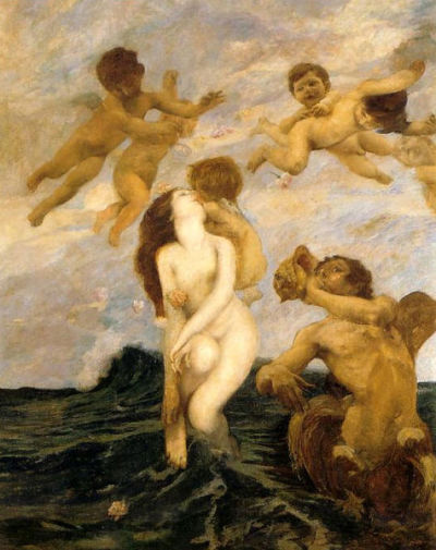 colourthysoul:  Ettore Tito - The Birth of Venus (1903)