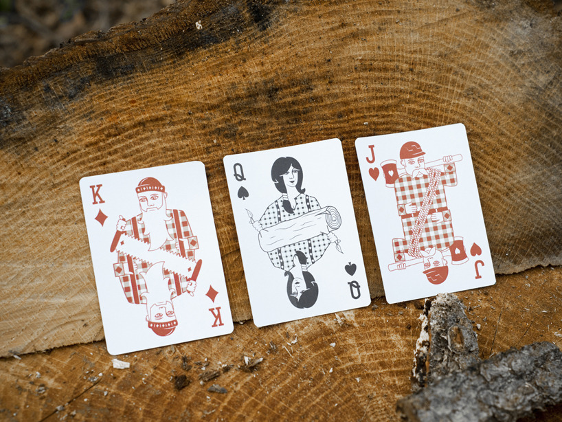 designcube:  Lumberjack Playing Cards by Bicycle