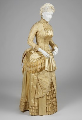 fripperiesandfobs:  Dress, 1884 From the RISD Musuem