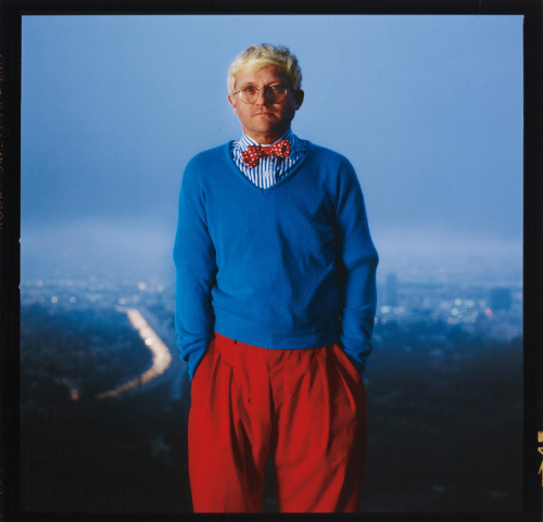 workman:  mpdrolet: David Hockney, Los Angeles, 1983 Annie Leibovitz