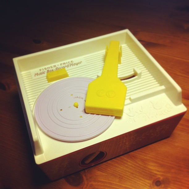 nikkidoughnuts:  I'm a DJ now.  OMG i had this when i was little! and it was my favorite toy!