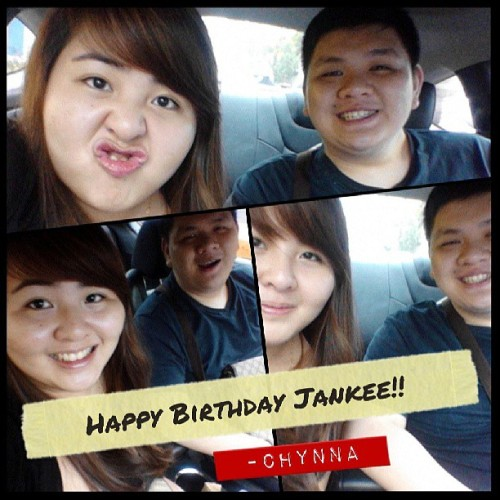 Happy Birthday to my baby brother/boss/employer/bestfriend Jankee!! Debut mo na! 21 dances na yan! Hahaha :)) ayun thank you for giving sense to our conversations, lalo na pag seryoso. I've learned a lot of street smarts from you. And syempre you gave me a slice of life din. Ayun. Alam mo naman balak mo sa buhay e so i hope makuha mo lahat yun. Thank you for everything Keed. Happy Birthday. :)