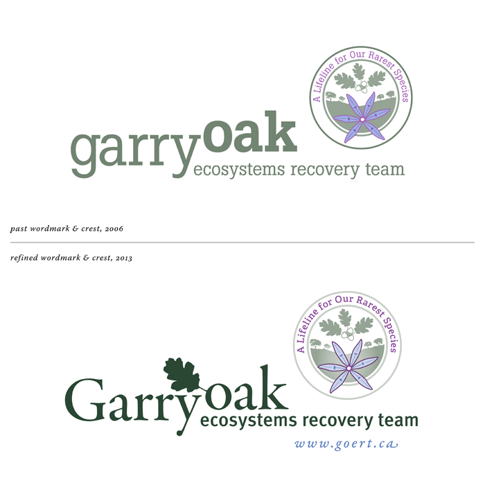 our work refreshing the Garry Oak Ecosystem Recovery Team logo, going live this week