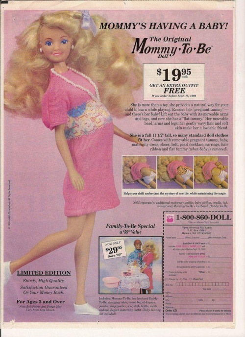 laughingsquid:  Pregnant Barbie-Like Mommy To Be Doll Featured in 'They Actually Made That!?'  uh gross