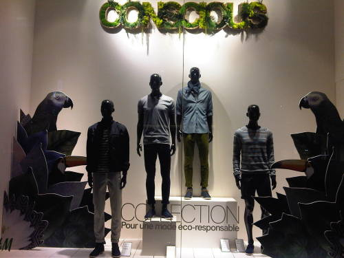 H&M Conscious The collection of the year at H&M using all recycled materials, and including a new service of recycling YOUR old, unwanted fashion items. The collection has been on sale for a few weeks now and the service will be available till June, but a little birdie told me that it has been very successful - not surprising when  you get a 5€ voucher to use in store, when you choose to recycle 3 old garments with them! For full details see www.H&M.fr xoxo LLM