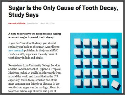 """(via Sugar Is the Only Cause of Tooth Decay, Study Says 