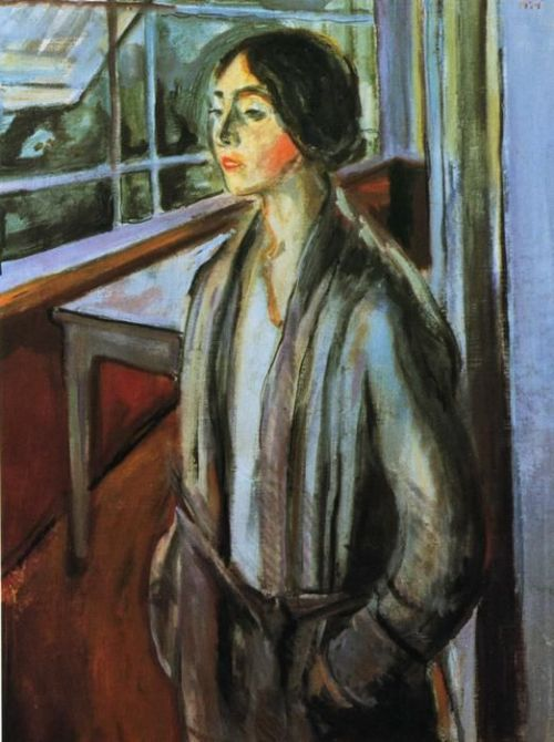 Edvard Munch. Woman on the Verandah. 1924. Oil on canvas. 90 x 68 cm. Private collection
