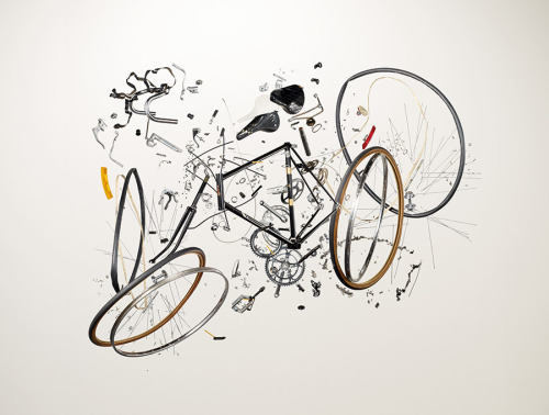 Things Fall Apart, A New Book of Disassembled Objects by Todd McLellan Christopher Jobson, thisiscolossal.com Bicycle, 1980s; Raleigh; Component count: 893. Photo reproduced with the permission of Thames & Hudson.Bicycle, 1980s; Raleigh; Component count: 893. Photo reproduced with the permission of Thames & Hudson.Chainsaw, 1990s; Homelite; Compon…  A slipd look at the beauty of everyday objects.