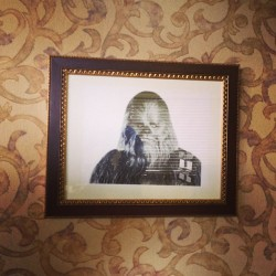 Amazing hotel art. #chewbacca (at Bluegrass Extended Stay)