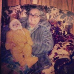 My Grandma and I when I was a little baby. I miss her very much. #family #memories #oldphotos #familyphotos #baby #vintage #1978 #instahub #nostalgia