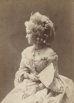 Miss Meyerhoff, german stage actress. Mids 1870s