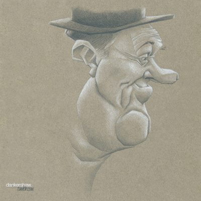 Stan Laurel  Done for Traditional Caricature on Facebook.