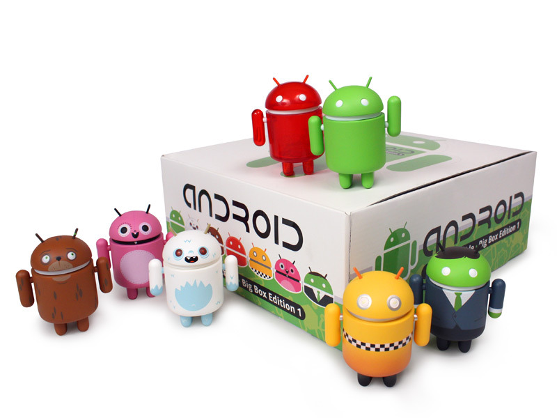Android Big Box Series Available at myplasticheart Finding Big Box Android figures has been nearly impossible, at least for me. They're supposed to be available at Barnes & Noble and Urban Outfitters, but they're never in the store or online. I finally found some at NYCC but haven't seen any more. Until today. myplasticheart has all seven versions of Big Box Series 1 available, each at $10. Finally, a robo-yeti can be all yours. Check it: More Android Mini Collectible posts from Albotas