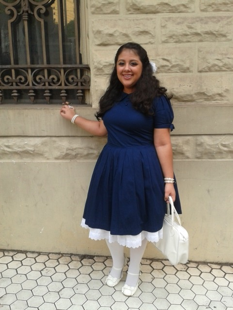 centrefolds-rah:Photoshooting on September, 21.OP: handmade  Underskirt: handmade  Bag: Super Hero Shop  Tights: Marisa Shoes: Secret Shop