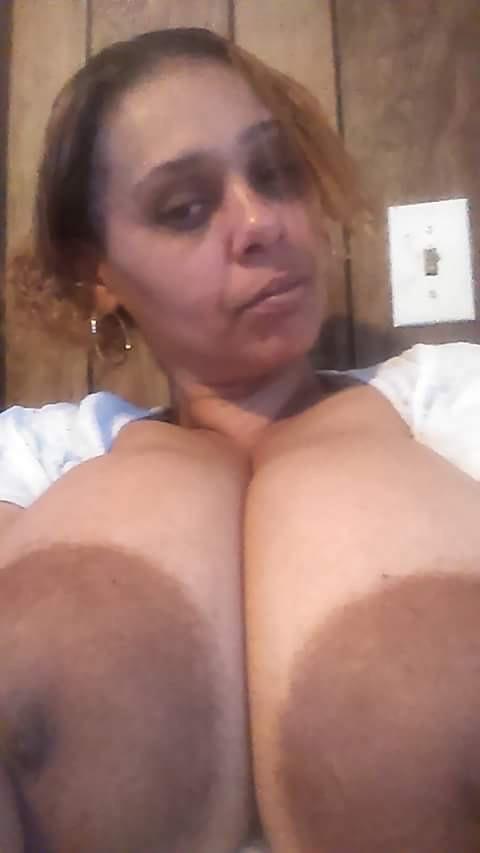 Black Lactating Boobs, Significant Areolas, Chunky Nipples