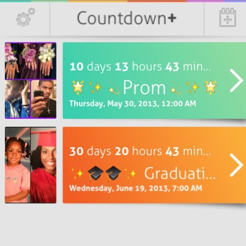 Counting down lol I'm hype