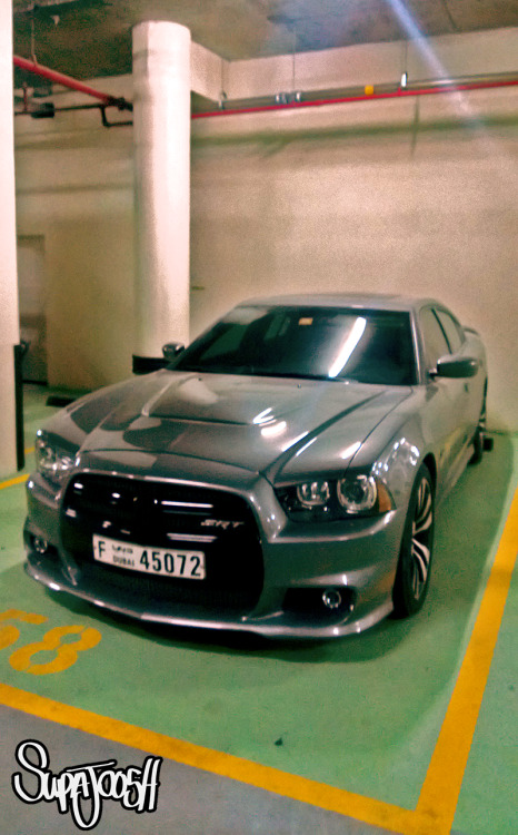 Dodge Charger SRT in a Dubai garage