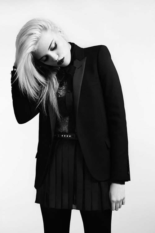 saint laurent select #4. pre-fall 2013 look 11 from hedi slimane's SL with sky ferreira photo via style.com