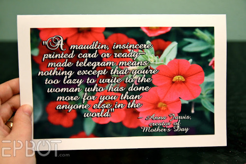 "DIY Mother's Day Card Free Printable from EPBOT here. Does your mom have a great sense of humor like mine? I say it all the time that the mothers I know want these things for Mother's Day: ""good kids"", to sleep in for a day, good food, and a homemade card. But I'd make an exception for this card."