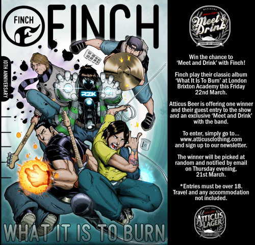 Win the Chance to Meet, Drink with and See Finch at Brixton this Friday..