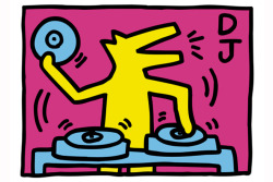 vinylespassion:  Keith Haring - DJ