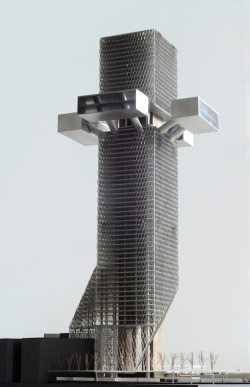 fabriciomora:  Phare Tower - OMA, model by Werkplaats Vincent de Rijk