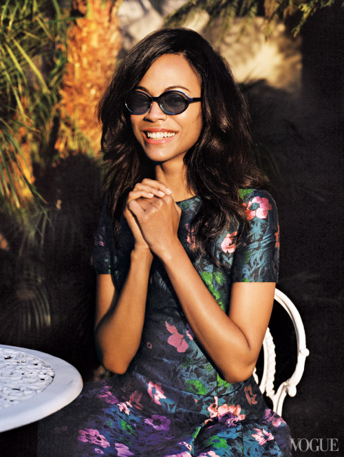 Zoe Saldana for Vogue   love her sooo much