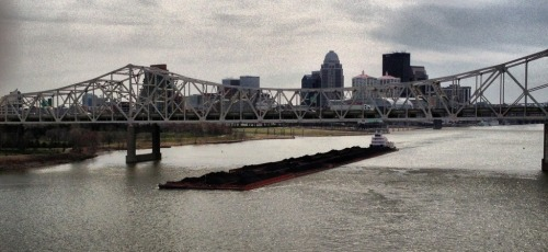 Barge on the Ohio River in Louisville Ky.  Forgot my camera strap so the only photos I took that day were with my phone.