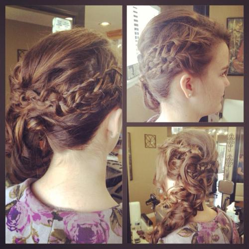 Got to do my friend's hair for prom at the salon last Saturday!