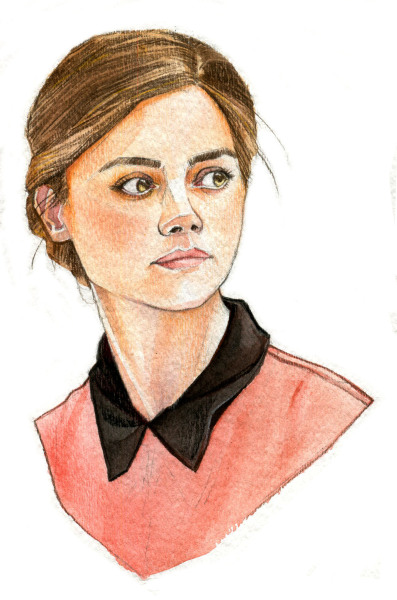 Clara watercolour + pencil crayons :)