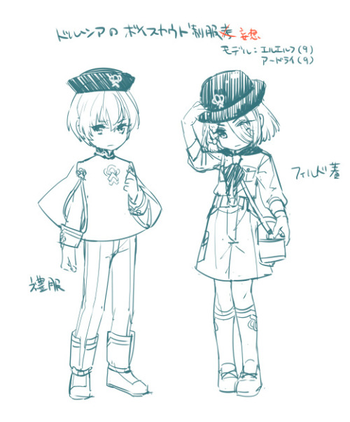 siruphial:  just try to design a uniform style of dorssian scout ^^ model: L-ELF(9) A-DREI(9)