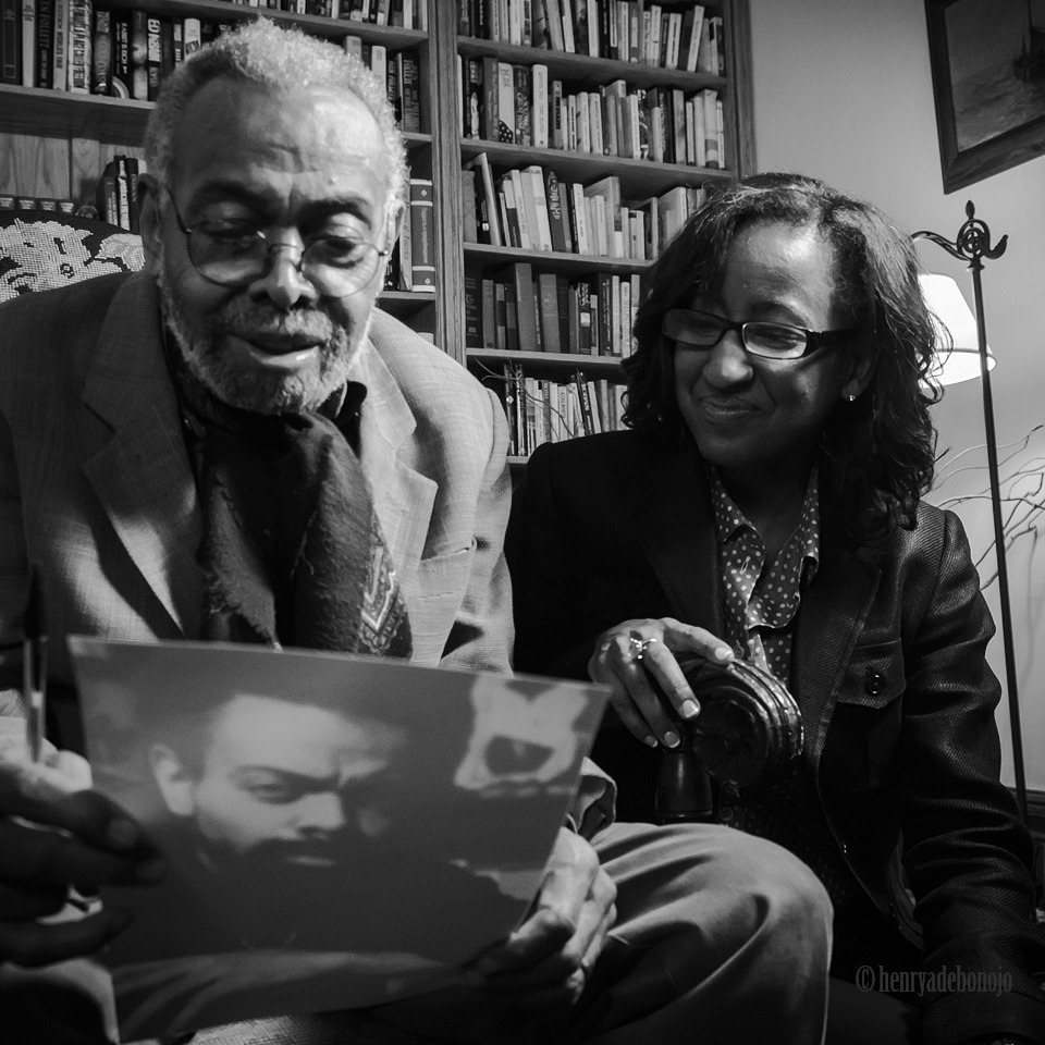 mybutbeautiful:  Encounter with a younger self… AMIRI BARAKA (Director Melissa Haizlip is next to him) While shooting a documentary work in progress titled MR. SOUL  Looking forward to the finished product Henry. Cheers.