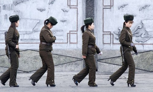 North Korean soliders in heelz