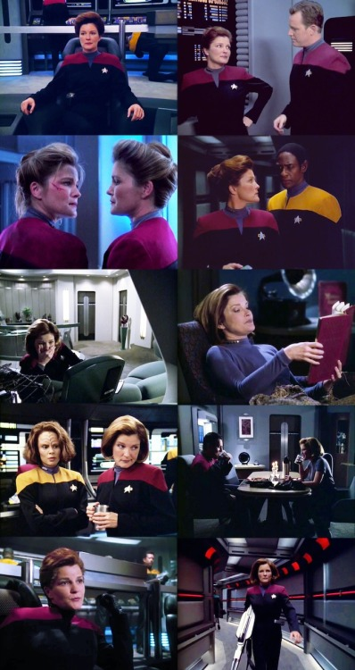 "Captain Kathryn Janeway, 20 May 2335 - ?   ""Abandon ship? The answer's 'no.' I'm not breaking up the family, Chakotay. We're stronger as a team.""   Happy birthday, Captain Janeway!"