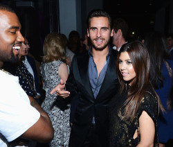 Kourtney Kardashian, Scott Disck and kanye west