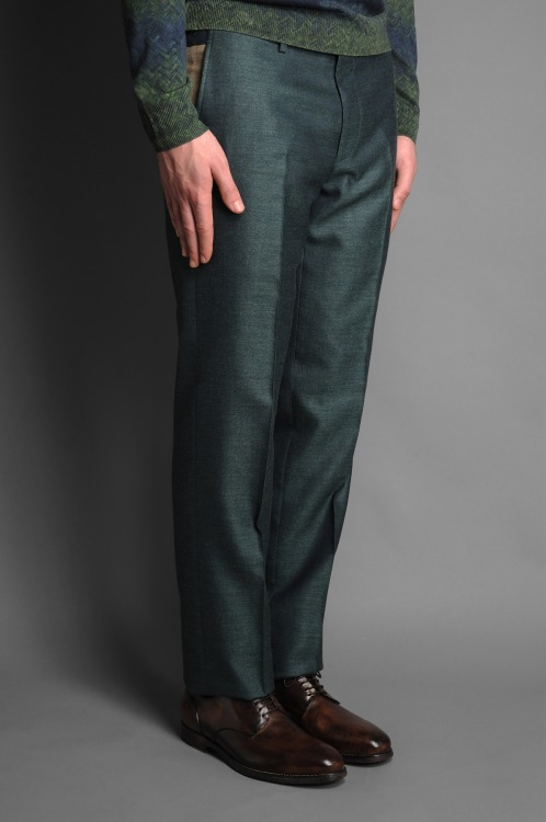 A variation on the classic: Kenzo green formal pants