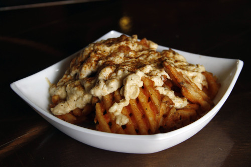 orioles:  New to The Yard in 2013: Crab Waffle Fries. Crab Waffle Fries are located in the main concourse at Chicken and Fries and in the upper deck at Old Bay Seafood.  Mmmmmmm