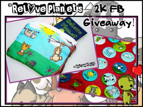 reloveplanet:  GIVEAWAY TIME!!! Check it out and enter! ♥  ♥ ReLove Plan.et's 2k Likes Facebook Giveaway!!! ♥