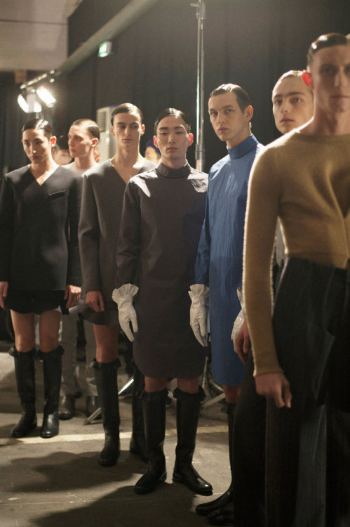 nomarox:  Noma Han backstage at J.W Anderson Autumn-Winter 2013/14 photo: KASIA BOBULA for The New York Times