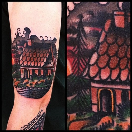 wainktattoo:  #cottage #tattoo by James McKenna. (at WA Ink Tattoo)
