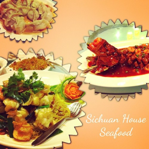 Seafood dinner 😊❤ (at Sichuan House Seafood)
