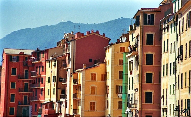 | ♕ |  Colorful houses of Camogli  | by © almasic