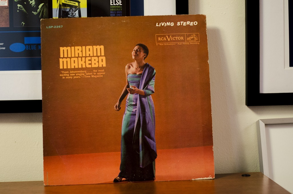 An original pressing of Miriam Makeba's 1960 eponymous album. Today is her birthday.