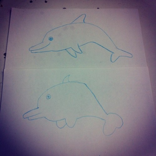 #dolphin #fish #drawing  #work #therapy #autism #myturnyourturn