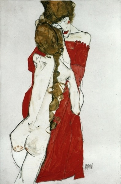 psychotic-art:  Mother and Daughter - Egon Schiele, 1913.