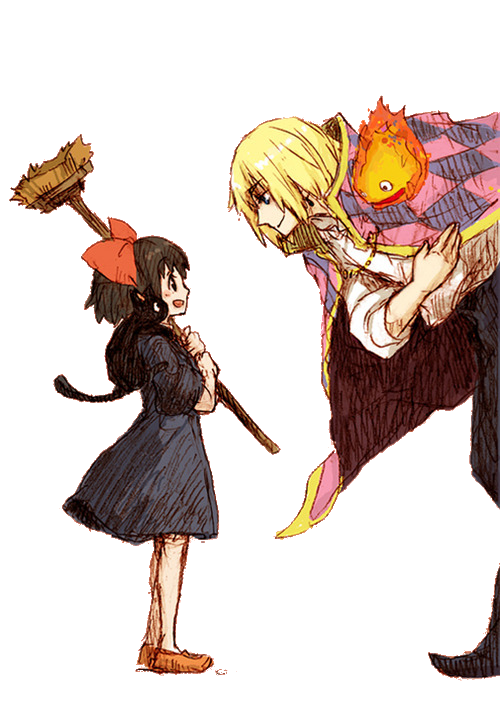 "sir-laughsalot:  Howl and Kiki ""Do you want some candy, little girl?"""