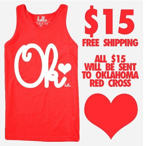 @helloapparel will send you a tank and all $15 will be sent to Oklahoma Red Cross! I know you have $15!