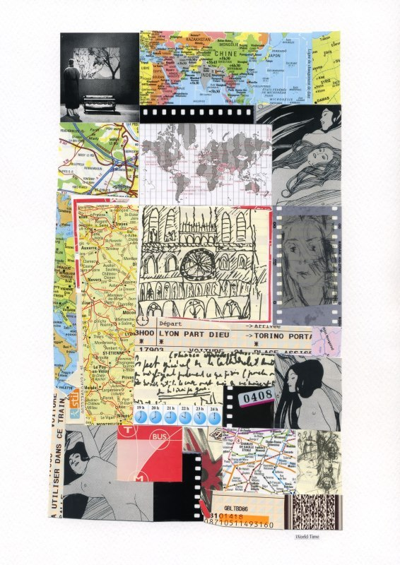 World Timecollage 21 x 29,5© Stefano Miraglia Collection Lejosne