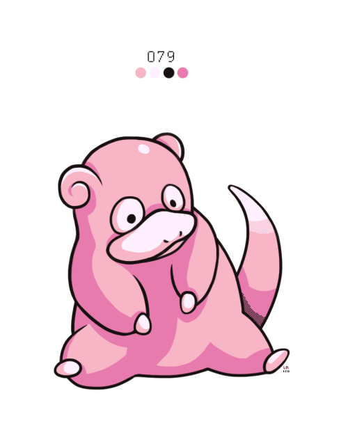 rock-bomber:  079. Slowpoke by ~Rock-Bomber (do NOT remove source or credits)